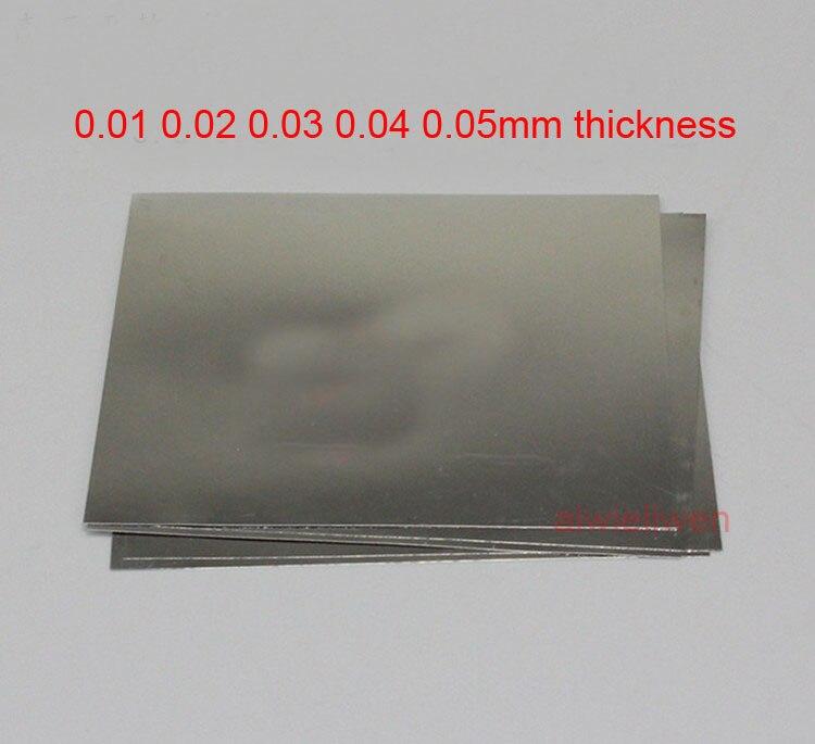[해외]301 1cr17ni7 sus301 부식 방지 플레이트 스테인레스 스틸 시트 301s21 0.01mm 0.02mm 0.03mm 0.04mm 0.05mm 두께