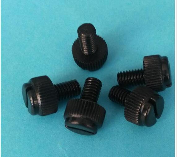 [해외]10pcs M5 nylon black slotted knurled plastic screw Hand screws electrical bolt bolts 12-25mm length/10pcs M5 nylon black slotted knurled plastic s