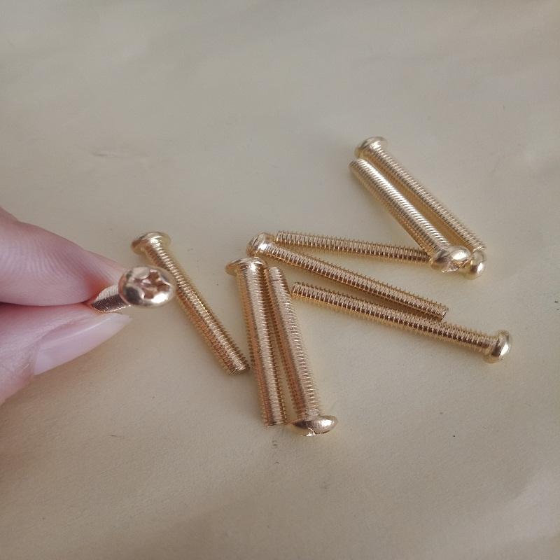 [해외]Free delivery GB818 Round head brass Copper screw/Phillips pan head machine screw M2*4 5 6 8 10 12 16 20/Free delivery GB818 Round head brass Copp