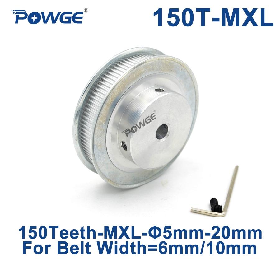 [해외]POWGE Inch Trapezoid 150 Teeth MXL Timing pulley Bore 8/10/12mm for width 6mm 10mm MXL Synchronous Belt Gear Wheel 150teeth 150T/POWGE Inch Trapez