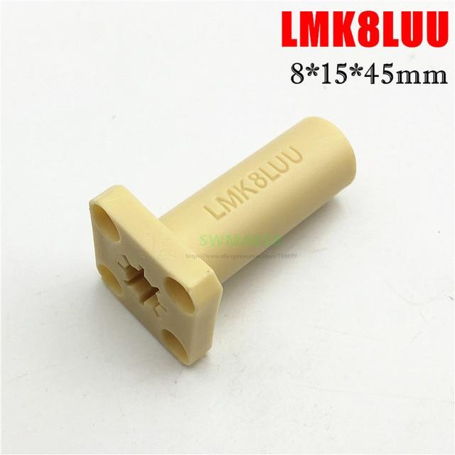 [해외]1pcs LMK8LUU Long square Type 8x15x45mm Solid Polymer Square Flange Linear Bushing /Bearing 8MM Reprap Prusa CNC DIY parts/1pcs LMK8LUU Long squar