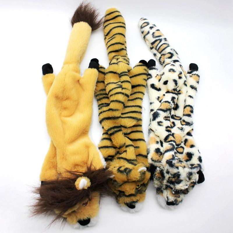 [해외]귀여운 호랑이 표범 사자 동물 애완 동물 씹는 개 치아 장난감 부드러운 dogtoy 물린 방지 장난감