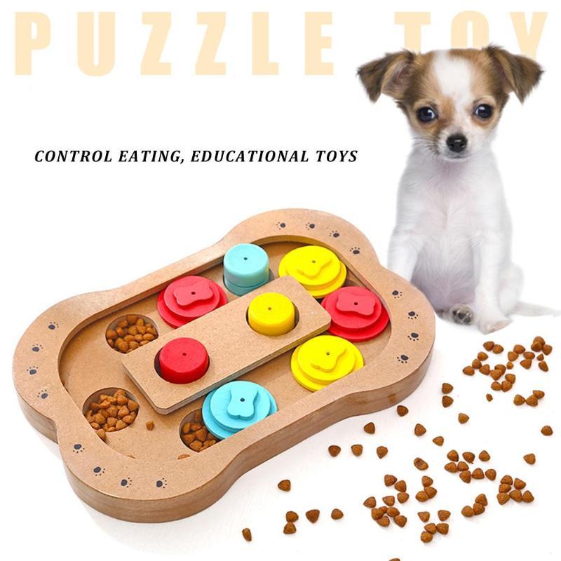[해외]Dogs Puzzle Toys Bones Paw Wooden Dog Toy Eco-friendly Pet Toy Educational Pet Bone Paw Puzzle Toys/Dogs Puzzle Toys Bones Paw Wooden Do