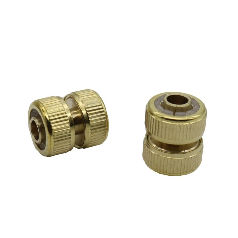 [해외]Brass Hose extend connector Pipe Repair Connectors Irrigation Plumbing Car Wash Water Pipe Fittings Hose Butt Joints 1 Pc/Brass Hose extend connec