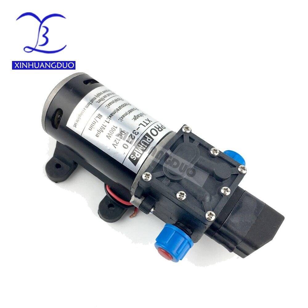 [해외]12V24V 100W High Pressure Professional Water Pump Micro Electric Diaphragm Pump Self-priming Booster Pump 8L/min For Car Washing/12V24V 100W High