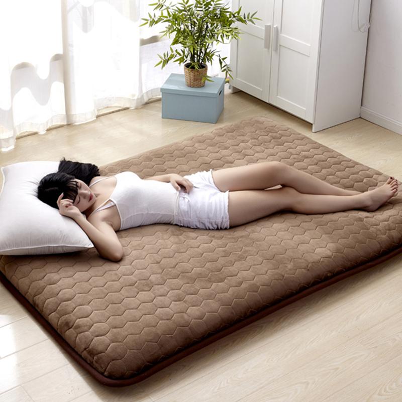 [해외]유아 빛나는 5CM 두께 매트리스 플란넬 통기성 침대 매트 학생 기숙사 싱글 매트리스 비 슬립 Tatame 침실 매트/Infant Shining 5CM Thickness Mattress Flannel Breathable Bed Mat Student Dormito