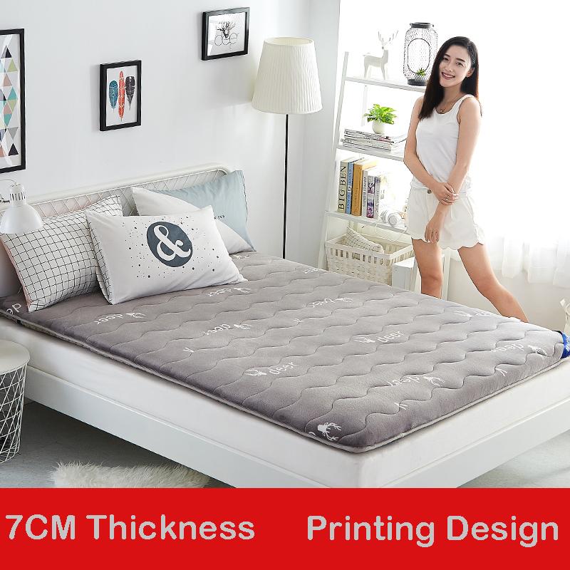 [해외]유아 빛나는 7CM 매트리스 두꺼운 플란넬 매트리스 양면 디자인 침대 매트 하드 및 소프트 보통 매트리스 사계절/Infant Shining 7CM Mattress Thickened Flannel Mattress Double-sided Design Bed Mat