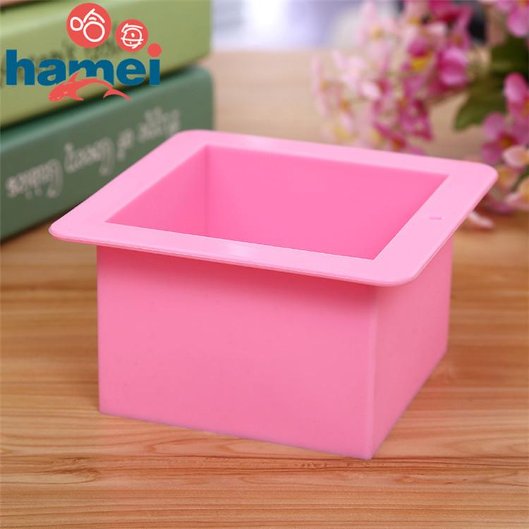 [해외]실리콘 수 제 비누 금형 500 ml 스트레이트 quadrel 9 * 9 * 6.5 cm 실리콘 bakeware 빵 금형 E184/silicone handmade soap mold 500ml straight quadrel 9 * 9 * 6.5cm silicone