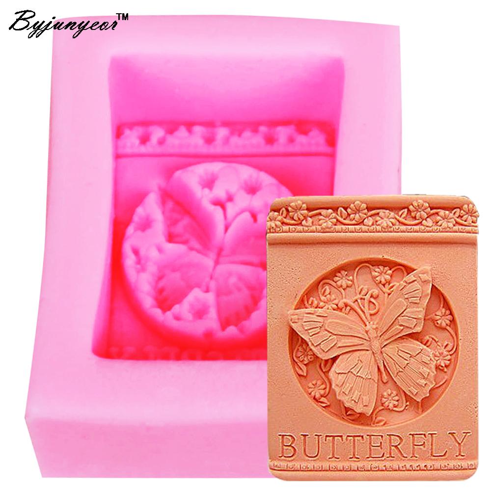 [해외]Byjunyeor S003 나비 모양의 수제 비누 실리콘 금형, 호의 실리카 젤 금형, 실리콘 촛불 금형 wholesale8 * 6.4 * 3cm/Byjunyeor S003 Butterfly shaped Handmade soap silicone mold, fav