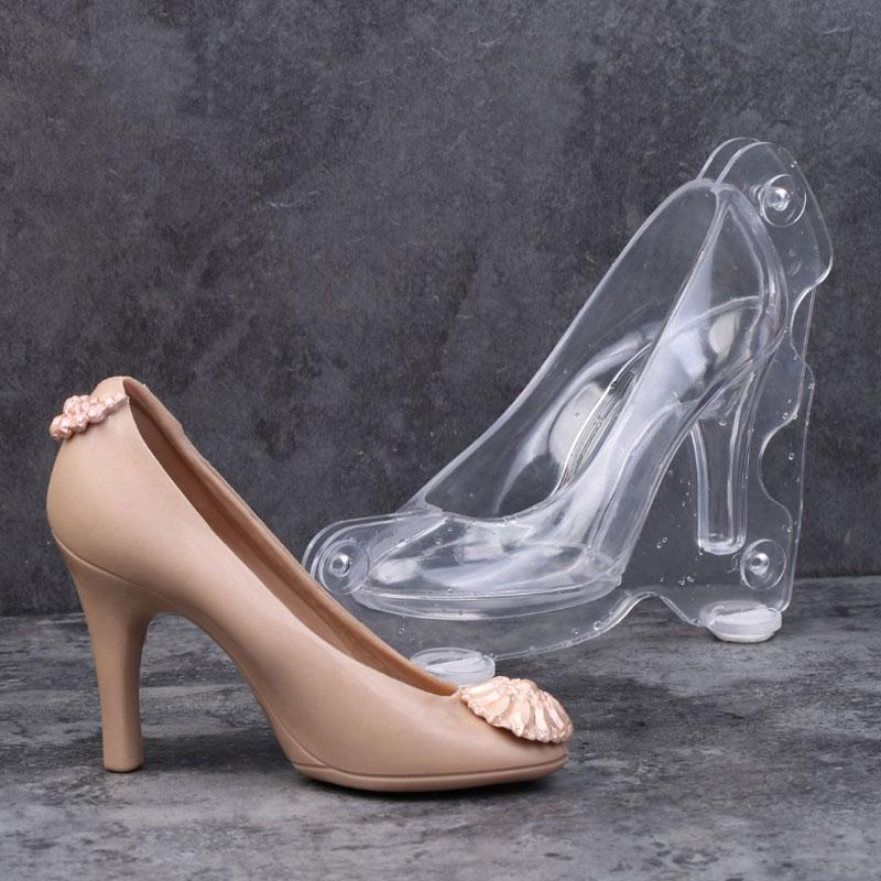 [해외]3D DIY 대형 하이힐 구두 폴리 카보 네이트 PC 초코렛 사탕 금형 뭉치 Mold3 클립/3D DIY Large High Heel Shoe Polycarbonate PC Chocolate Candy Mould Bundle Molding Mold3 Clips