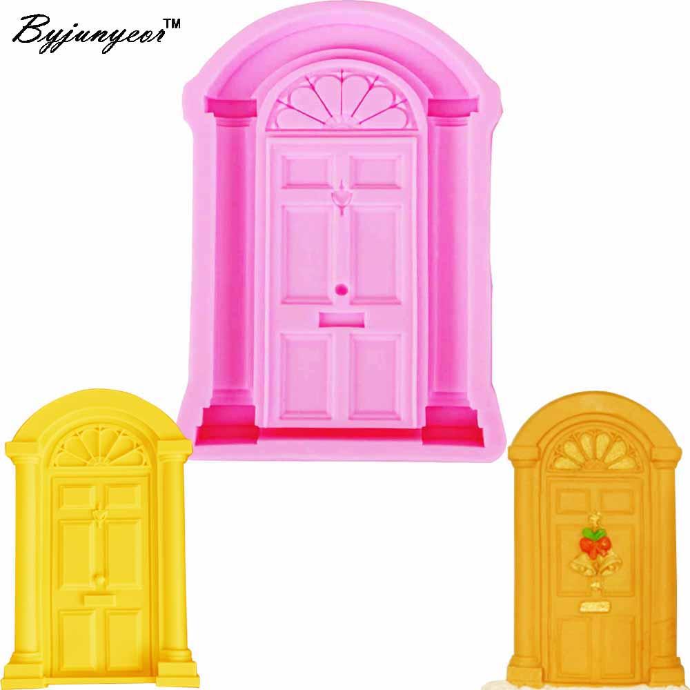 [해외]Byjunyeor DIY 레트로 도어 창 케이크 테두리 실리콘 금형 먹고 퐁당 케이크 꾸미시 Gumpaste 초콜릿 몰드 m894/Byjunyeor DIY Retro Door Window Cake Border Silicone Molds Cupcake Fondan