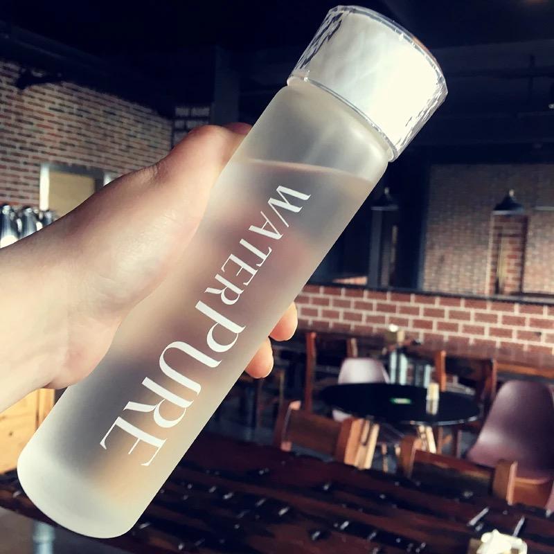 [해외]유리 물병 휴대용 둔한 폴란드어 음료 병 크리 에이 티브 건강한 물 컨테이너/Glass Water Bottle Portable Dull Polish Drink Bottle Creative Healthy Water Container