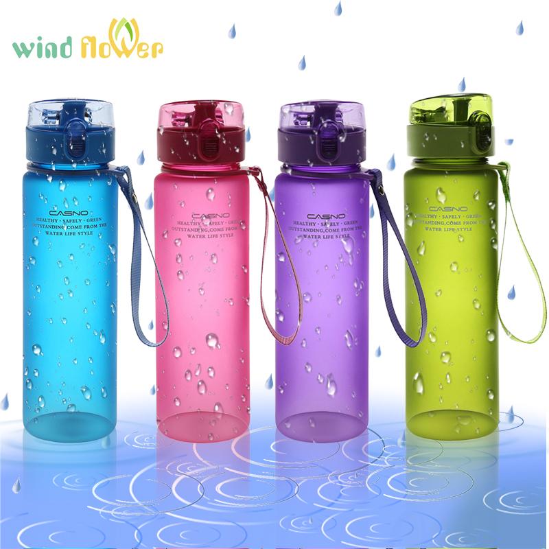 [해외]바람 꽃 560ml BPA 무료 누수 방지 스포츠 물병 최고 품질 내 스포츠 자전거 캠핑 하이킹 음료 플라스틱 물병/Wind flower 560ml BPA Free Leak Proof Sports Water Bottle Top Quality My Sport Bi