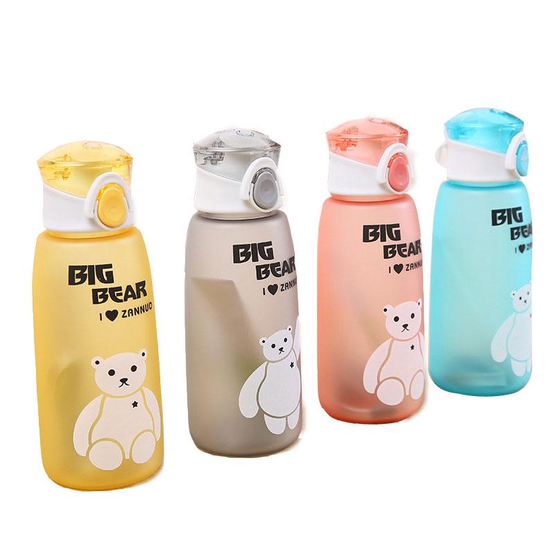[해외]키즈 물 병 만화 Leakproof 내 병 스포츠 Drinkware 최고 품질 투어 등산 휴대용 등산 500 ml H1087/Kids Water Bottle Cartoon Leakproof My Bottles Sports Drinkware Top Quality