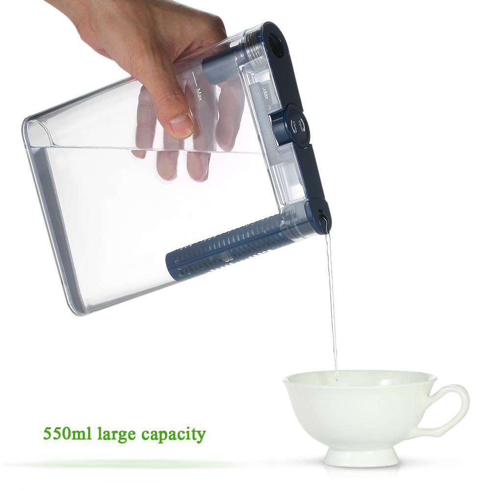 [해외]투명한 물병 1 탄소 필터 휴대용 필터 평면 병 핸디 워터 정수기 필터 요소/Transparent Water Bottle1 Carbon Filter Portable Filter Flat Bottle Handy Water PurifierFilter Element