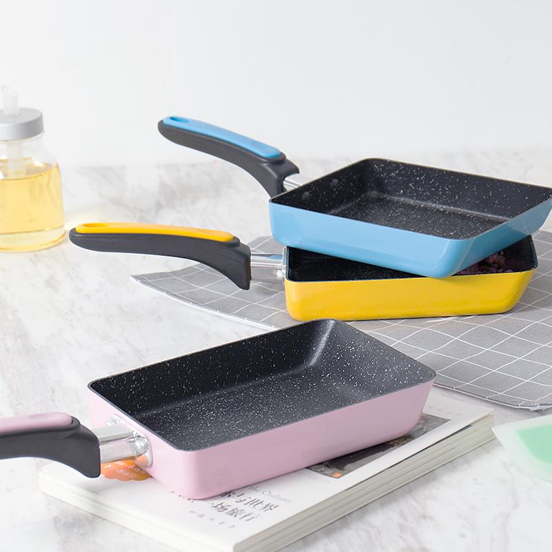 [해외]13x18CM 일본 Tamagoyaki 오믈렛 팬 Non-stick 전용 가스 밥솥 프라이팬 프라이 프라이 프라이 팬 냄비 요리 냄비/13x18CM Japanese Tamagoyaki Omelette Pan Non-stick Only Use for Gas Coo