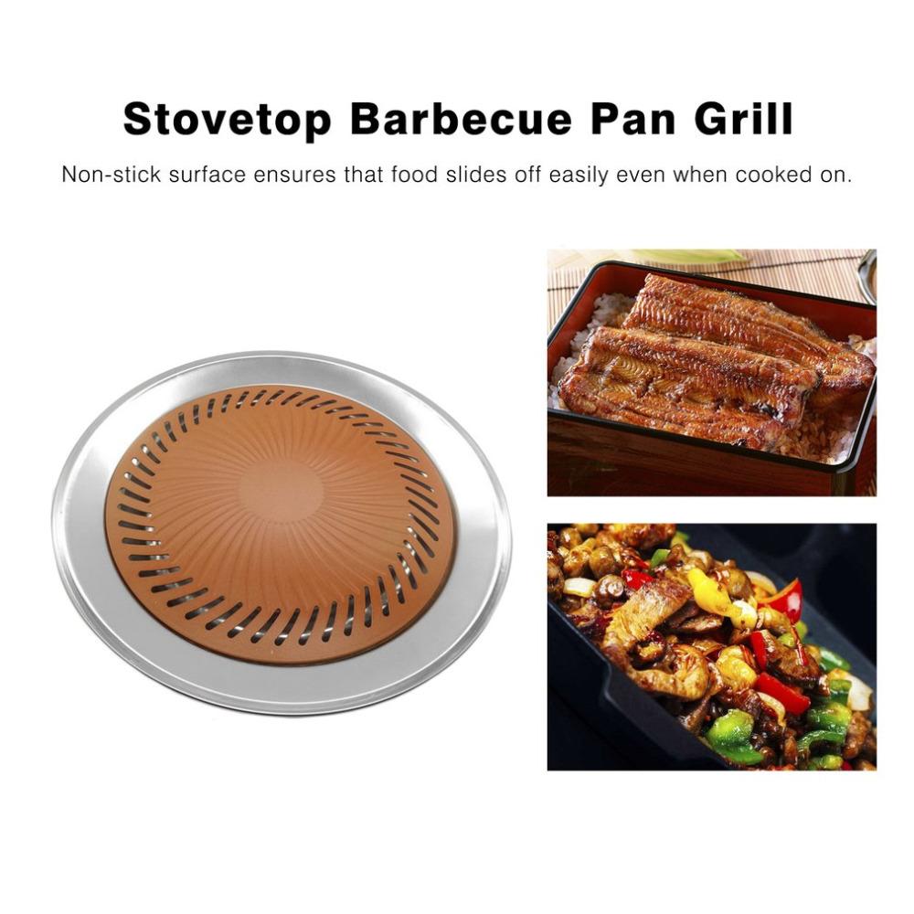 [해외]다기능 티타늄 스틱 무연 스토브 바베큐 바베큐 스토브 바베큐 플레이트 요리 프라이팬 주방 그릴/Multifunctional Titanium Non-stick Smokeless Stove BBQ Barbecue Stovetop Barbecue Plate Cooki