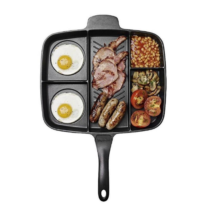 [해외]다기능 5 - in - one 알루미늄 합금 스틱이 아닌 프라이팬 팬 그릴 튀김 오븐 프라이팬 트레이 가정용 주방 요리 도구/Multifunction Five-in-one Aluminum Alloy Non-Stick Frying Pan Grill Fry Oven