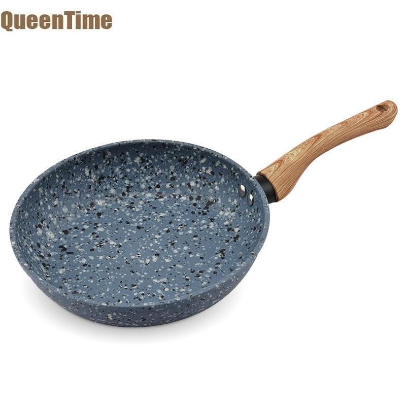 [해외]QueenTime 화강암 코팅 후라이 팬 논 스틱 팬케이크 팬 수프 냄비 프라이팬 할로겐로 가스 주방 조리기구/QueenTime Granite Coating Frying Pan Non-stick Pancake Pans Soup Sauce Pot Skillet H