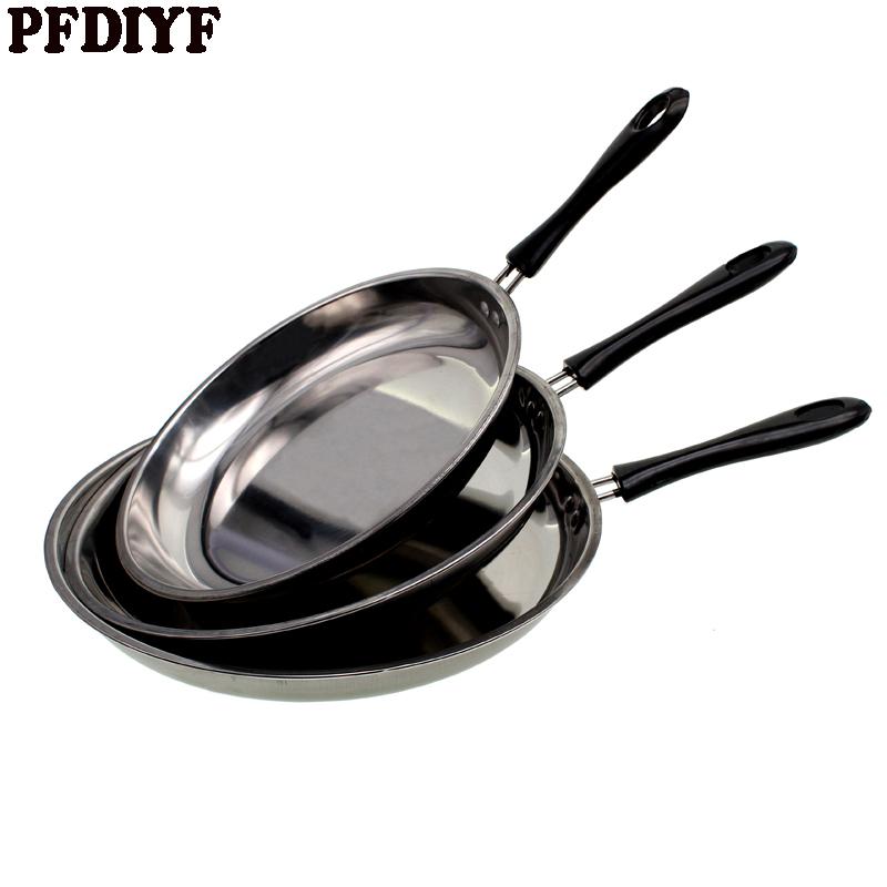 [해외]휴대용 스테인레스 스틸 그릴 프라이팬 팬케이크에 대 한 비 스틱 프라이팬 튀긴 계란 스테이크 요리 도구 조리기구 22cm 24cm 26cm/Portable Stainless Steel Grill Pans Non-Stick Frying Pan For Pancake