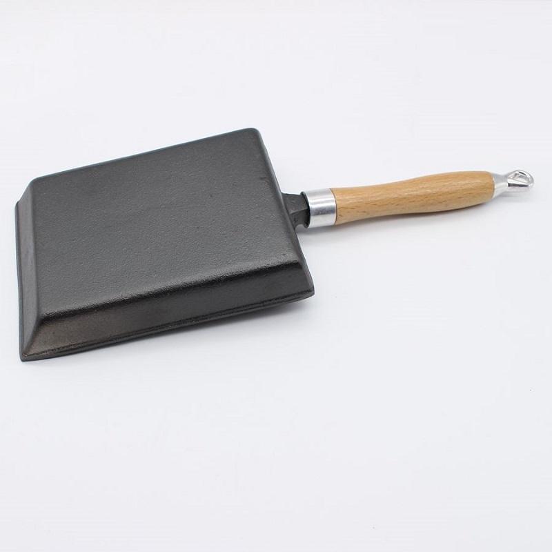 [해외]지팡이없는 후라이 팬 프라이팬 두껍게 코팅 된 일본식 달걀 모양 프라이팬없이 주철/Cast iron without coating thickened Japanese egg roll frying pan square frying pan without stick