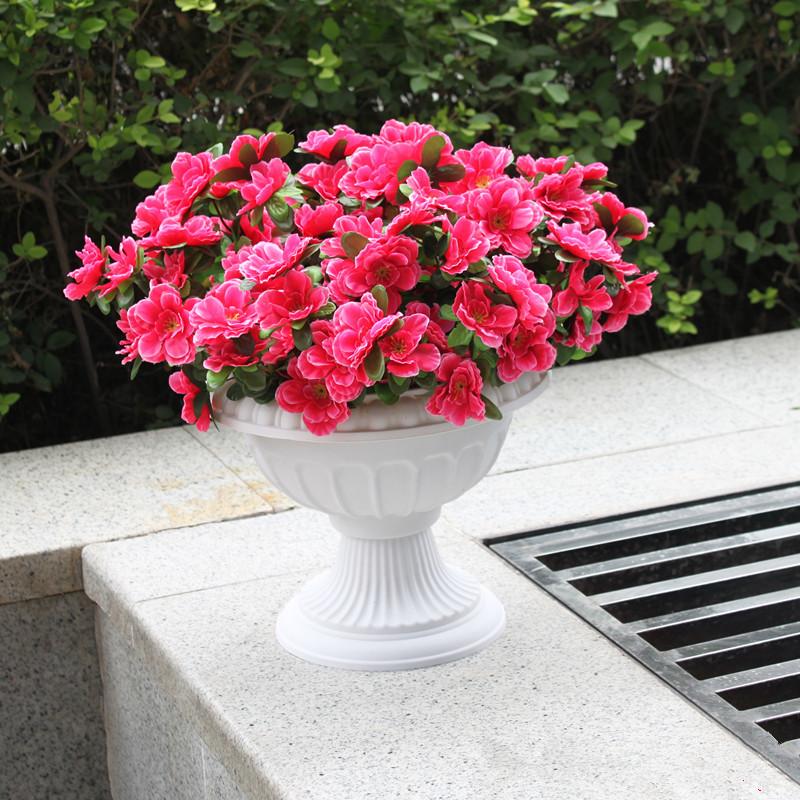 [해외]유럽 ??스타일 로마 냄비 화이트 컬러 플라스틱 기둥 도로 Flowerpots 플라스틱 꽃 냄비 결혼식 소품 이벤트 장식 용품/European Style Roman Pots White Color Plastic Pillars Road Flowerpots Plast