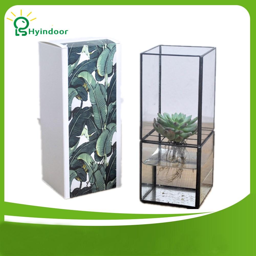 [해외]꽃 냄비 직사각형 분할 유형 수경 유리 테라리움 꽃병/Flower Pots Rectangle Split Type Hydroponic Glass Terrarium Vase