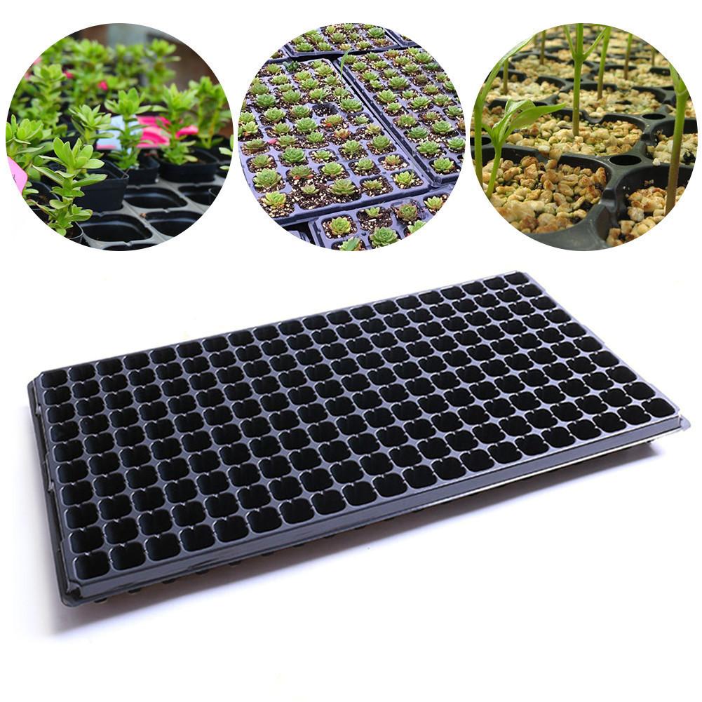 [해외]내구성 200 홀 묘목 트레이 정원 화분 파종기 블록 카세트 트레이 플라스틱 보육 단지 심기 트레이/Durable 200 Holes Seedling Tray Garden Pots Planters Block Cassette Tray Plastic Nursery P