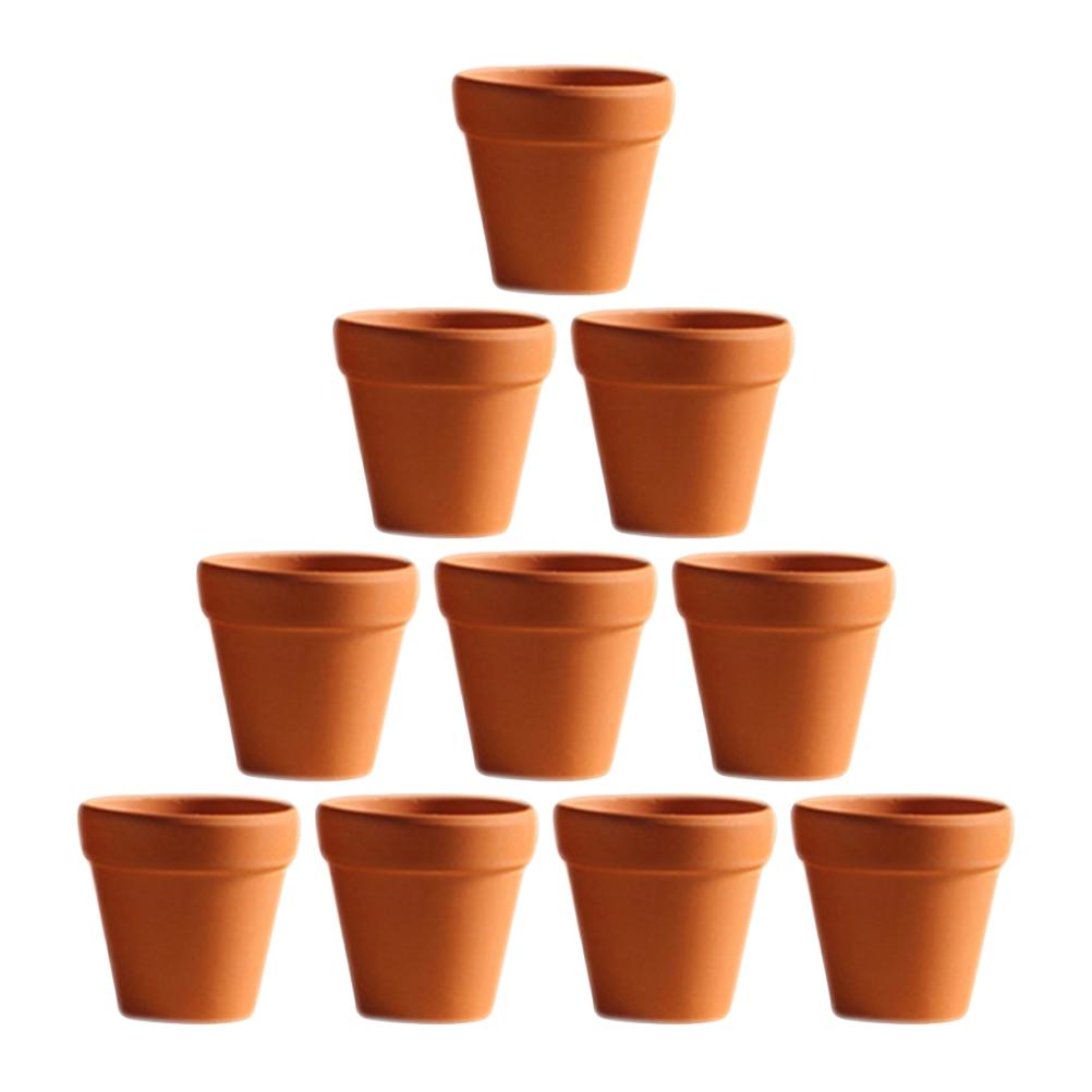 [해외]10 개 작은 미니 테라코타 냄비 점토 도자기 파종기 선인장 꽃 냄비 즙이 많은 종묘 냄비 위대한/10Pcs Small Mini Terracotta Pot Clay Ceramic Pottery Planter Cactus Flower Pots Succulent N