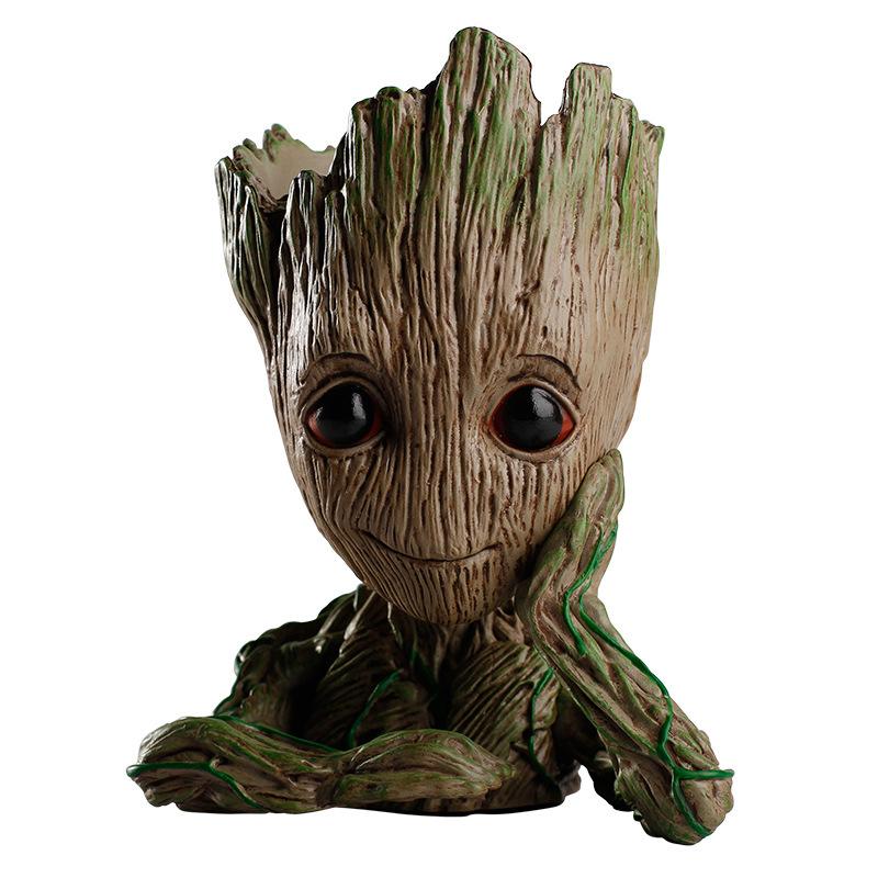[해외]드롭 배송 공장 냄비 트리 맨 영웅 은하 화분 아기 ??액션 피규어 모델 Penholder grootted의 창조적 인 프로텍터/Drop shipping plant pot Tree Man Hero Creative guardians of the galaxy flo