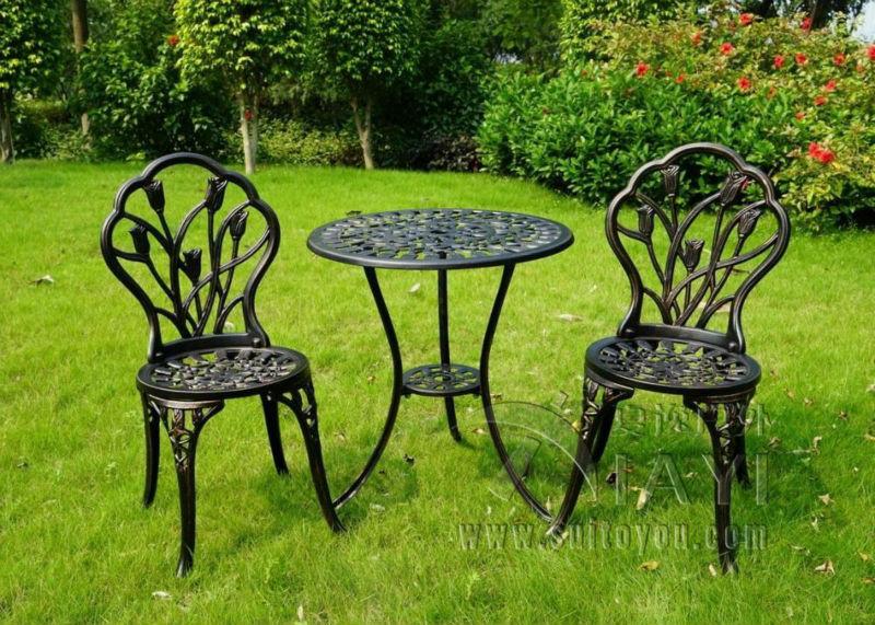 [해외]골동품 구리 의자 및 정원 테이블 세트에있는 알루미늄 비스트로 3 개/3 piece of Aluminum Bistro Set In Antique Copper chairs and table for Garden