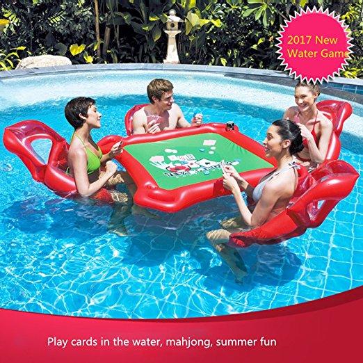 [해외]Smartlife 풍선 물 장난감 포커 게임 성인 수영 반지 마운트 부동 플로트 침대 떠 다니는 행 장난감/Smartlife Inflatable Water Toys Poker Game Adult Swim Ring Mounts Inflatable Floating