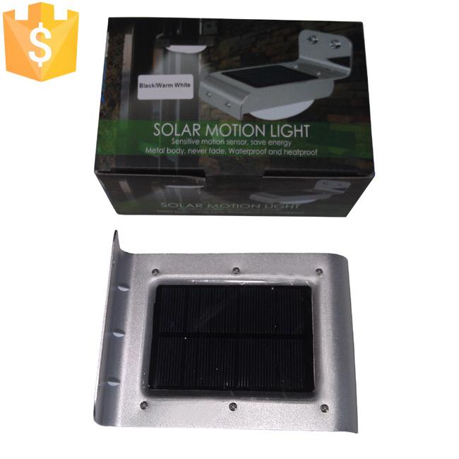 [해외]SK-LF001 모션 센서 LED 태양 벽 조명 블랙과 실버 컬러 케이스 야외 가구에 대 한 선택 100pcs / Lot/SK-LF001 Motion Sensors LED Solar Wall Lights Black and Silver Color Case opti