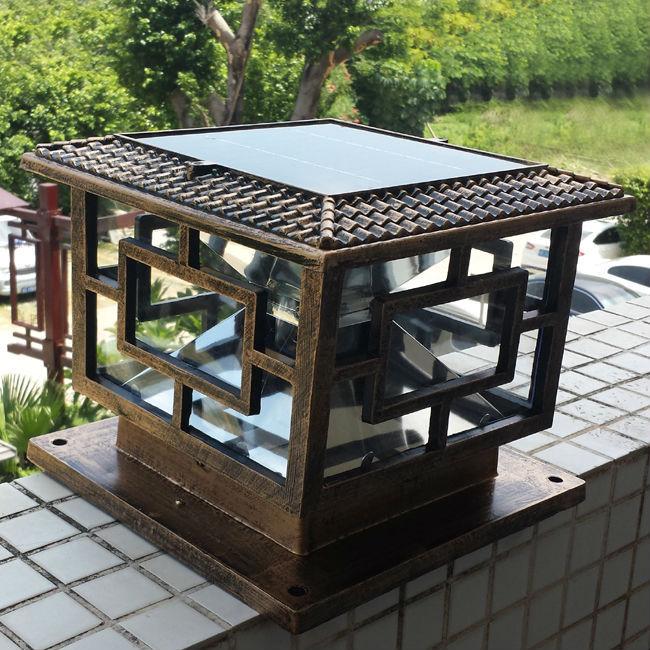 [해외]태양 기둥 램프 야외 슈퍼 밝은 LED 태양 기둥 게이트 램프 태양 기둥 빛 정원 세트 D30 * H25cm 1pc/New arrival Solar Pillar Lamp Outdoor super bright LED solar pillar gate lamp sol