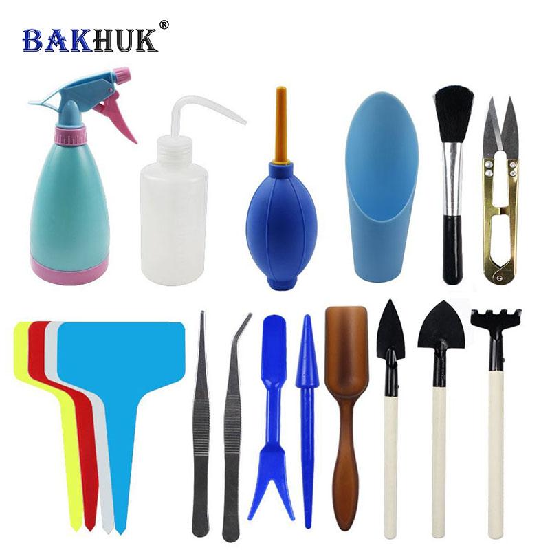 [해외]BAKHUK 즙이 많은 Potting 도구, T - 모양의 꽃 레이블, 꽃 이식 도구, 미니 원예 용품, 3 세트 심기 도구/BAKHUK Succulent Potting Tools, T-shaped Floral Labels, Flower Transplant To