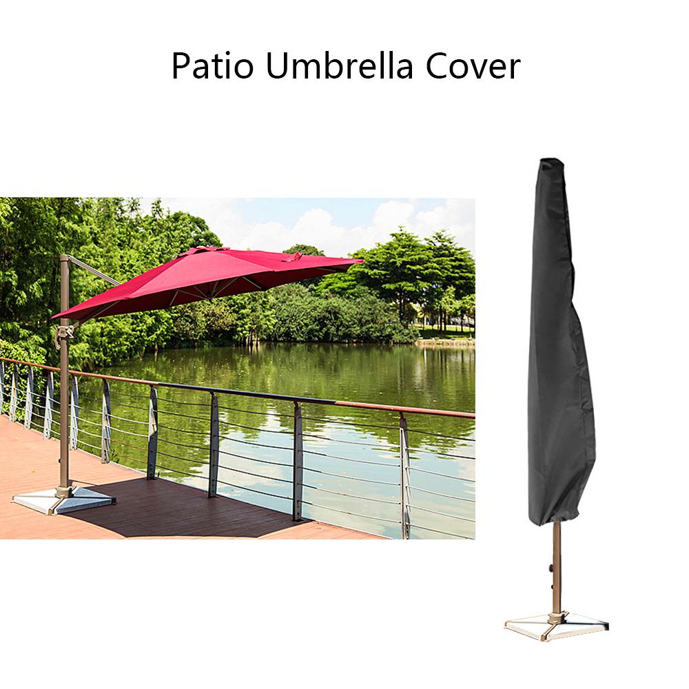 [해외]옥외 방수 정원 안뜰 우산 비 커버 폴리 에스테 닫집 보호 커버 부대 9-11ft 비옷 부속품/Outdoor Waterproof Garden Patio Umbrella Rain Cover Polyester Canopy Protective Cover Bag Fit