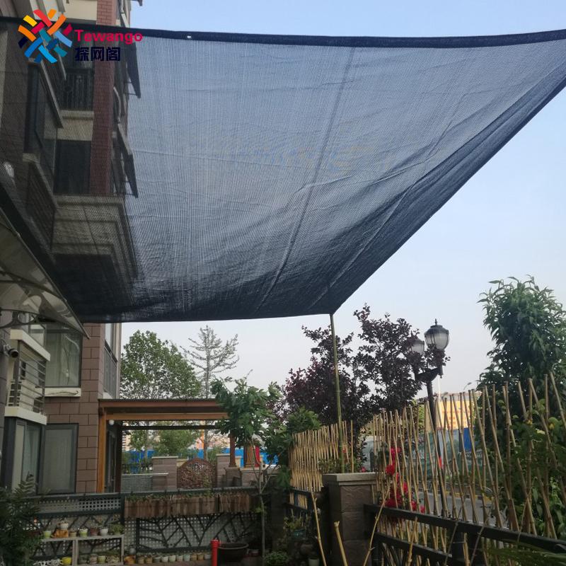[해외]Tewango 브랜드 HDPE + UV 메쉬 야외 그늘 세일 파티오 가든 커버 블록 70 % 그늘 비율 검은 다육 식물 그늘 그물/Tewango Brand HDPE +UV Mesh Outdoor Shade Sails Patio Garden Cover Block