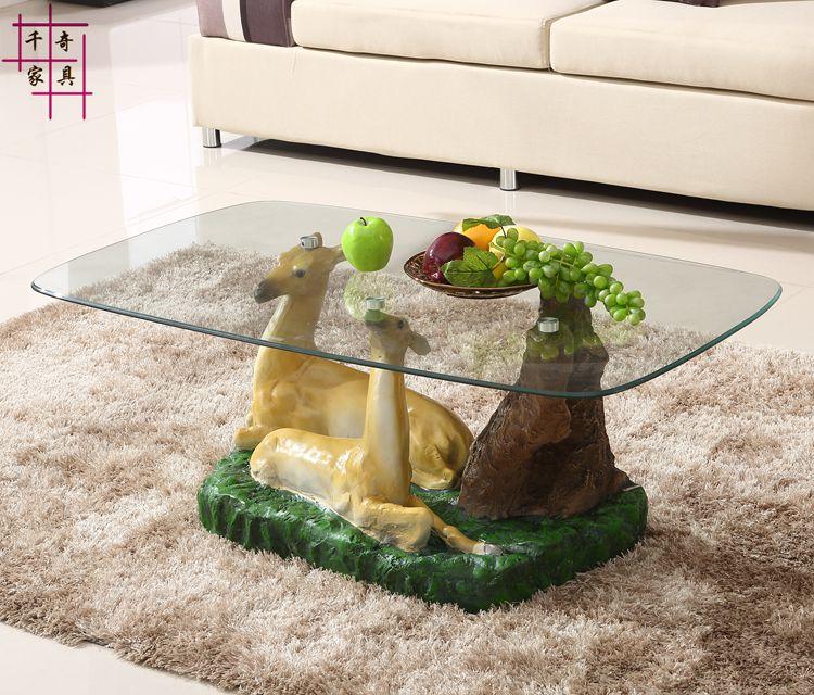 [해외]Personality is contracted and contemporary tea table. Toughened glass circular pattern assembly. The sitting room tea table /Personality is contra