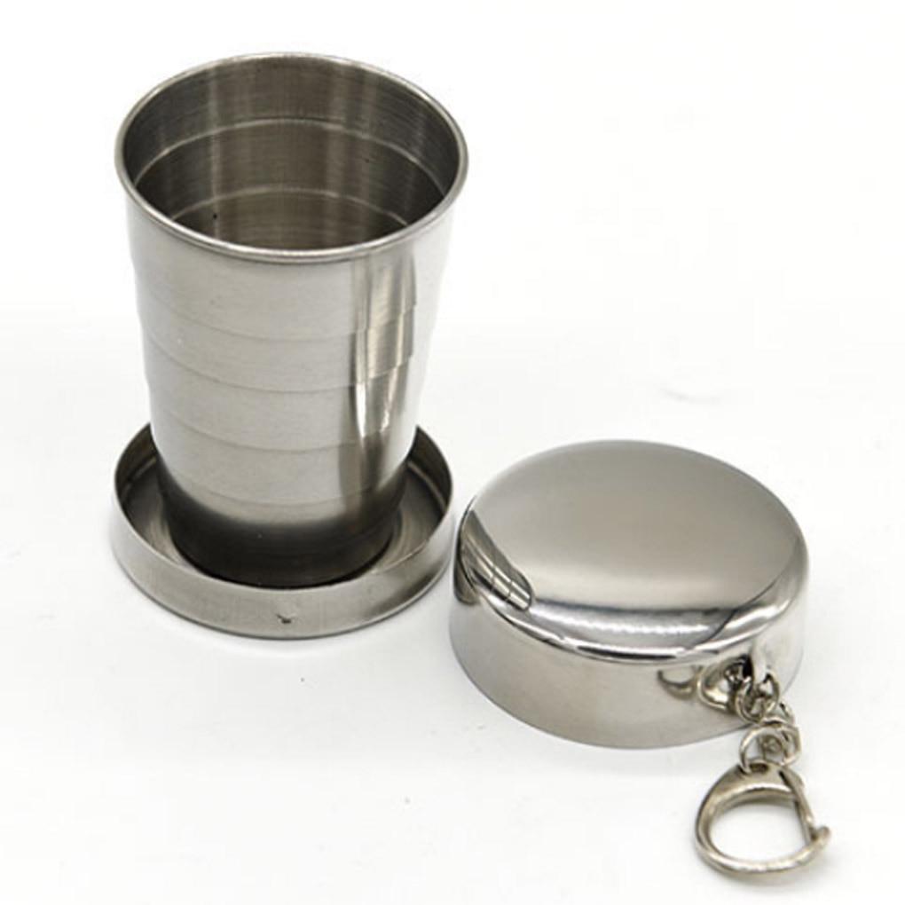 [해외]All stainless steel folding retractable cup folding cup blackjack cup/All stainless steel folding retractable cup folding cup blackjack cup
