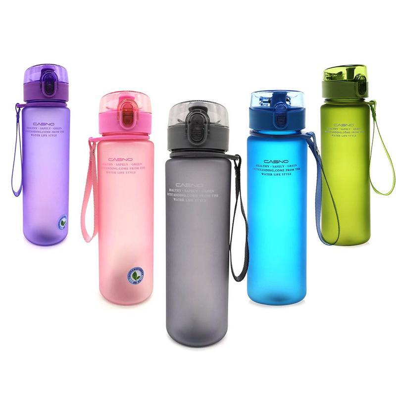 [해외]Frosted Sports Plastic Water Cup Portable Sealed Leak-proof Water Cup 560ML High Capacity Water Cup Fitness Outdoor Travel /Frosted Sports Plastic