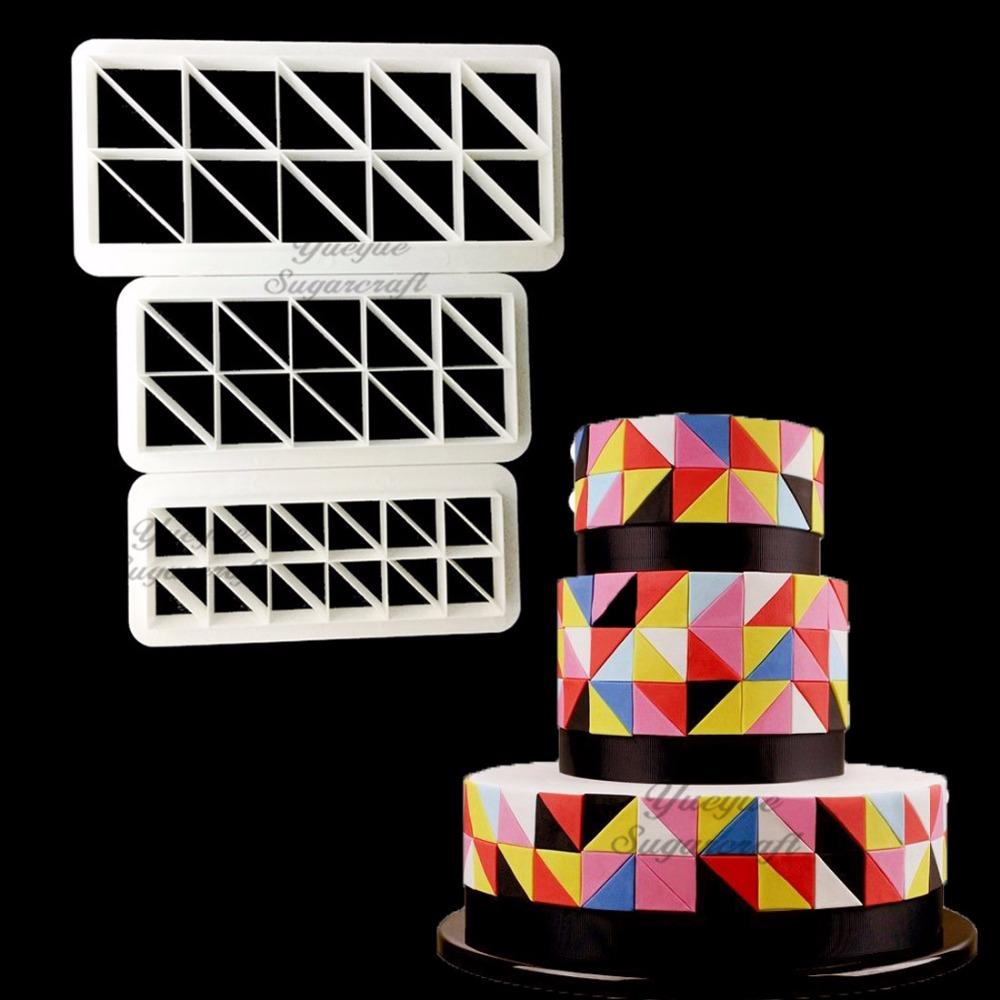 [해외]3 PC 기하학 퐁당 쿠키 커터 케이크 금형 퐁당 금형 퐁당 케이크 장식 도구 베이킹/3 pcs Geometry fondant cookie cuttter cake mold fondant mold fondant cake decorating tools Baking