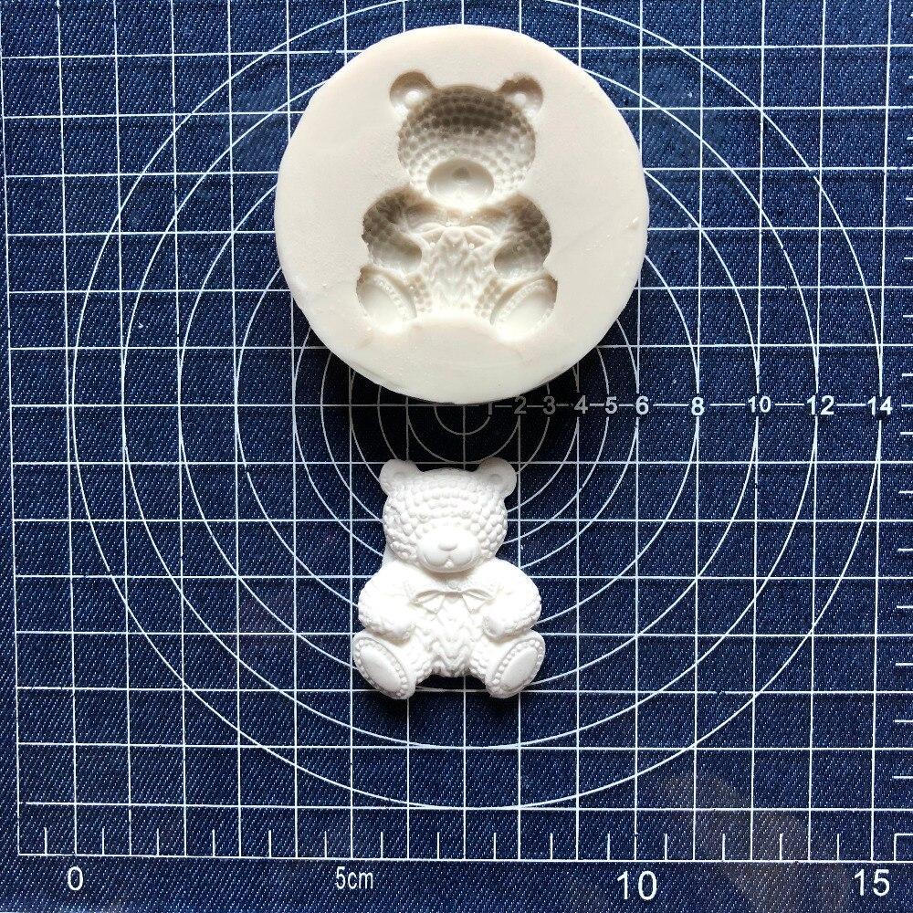[해외]케이크 도구 1 PC의 곰의 나비 실리콘 금형 Sugarcraft 초콜릿 퐁 도구 금형 DIY/Cake Tool 1 pc bear bow Silicone Mold Sugarcraft Chocolate fondant tool sugarcraft mould DIY