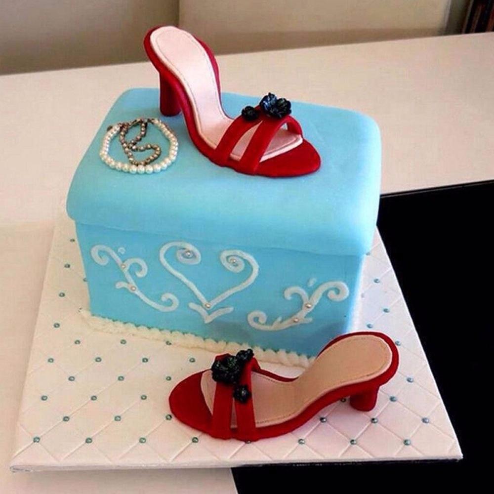 [해외]9pcs / 설정 높은 굽 신발 퐁당 케이크 금형 설탕 공예 베이킹 커터 금형 퐁당 케이크 꾸미시 도구 생일 파티 공급/9pcs/Set High-Heeled Shoes Fondant Cake Mold Sugar craft Baking Cutter Mold Fon