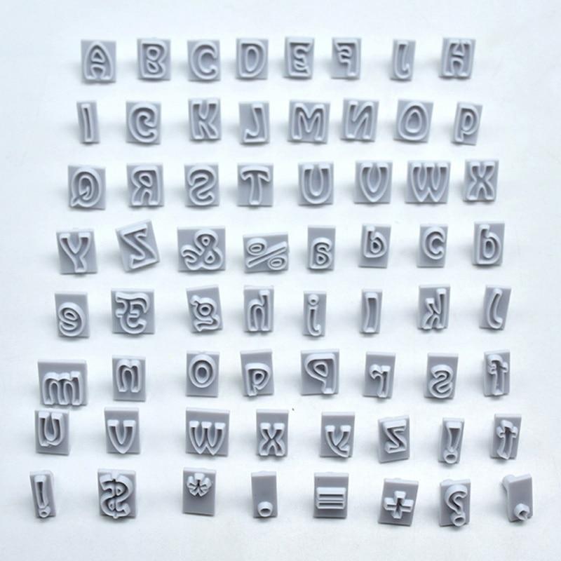[해외]New 64 Characters Case Alphabet Letters Baking Cake Mold Cookie Cutter Plastic Cookie Cutter Fondant Tool Set/New 64 Characters Case Alphabet Lett