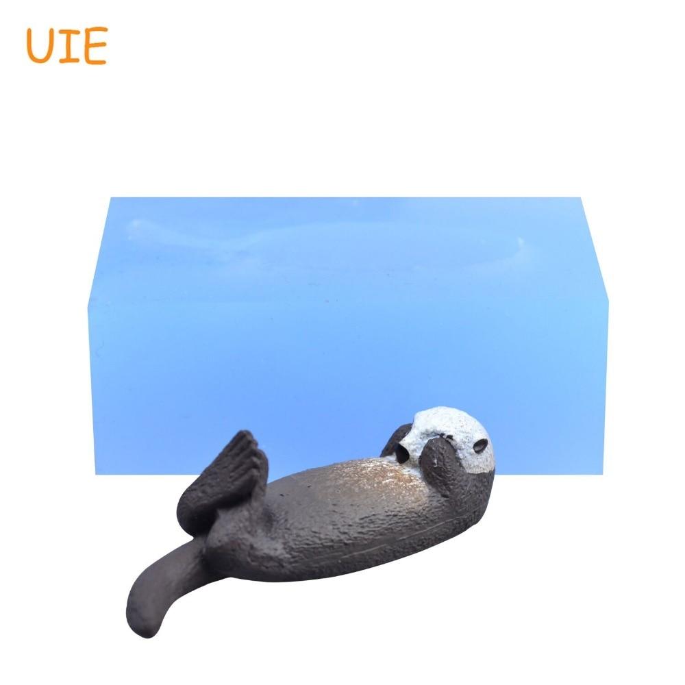 [해외]DYL739U Sea Otter River Otter Silicone Mold Animal Mold Candy Chocolate Fondant Craft Resin Pendant Jewelry Making Charm Mould/DYL739U Sea Otter R