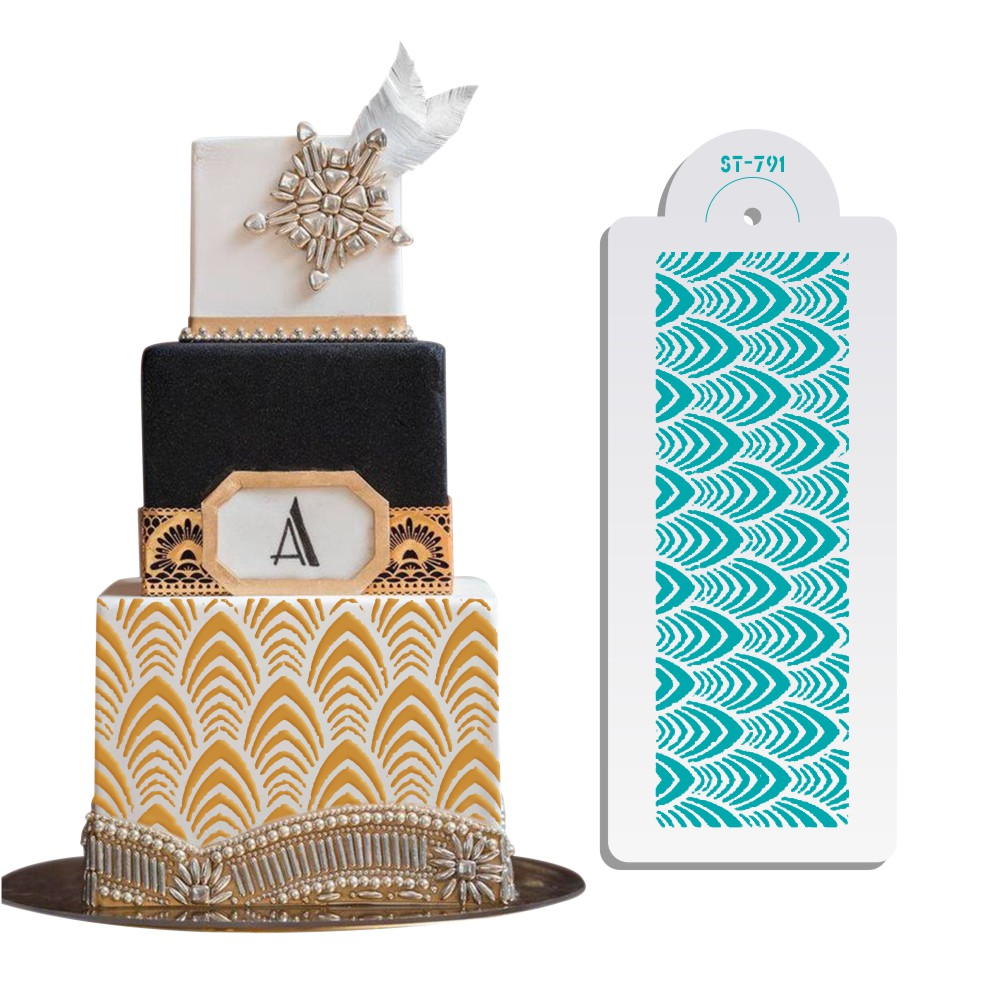 [해외]Large Size Wedding Art Decorating Cake Stencil Fondant Molds Cake Side Plastic Template Cake Tool Bakeware/Large Size Wedding Art Decorating Cake