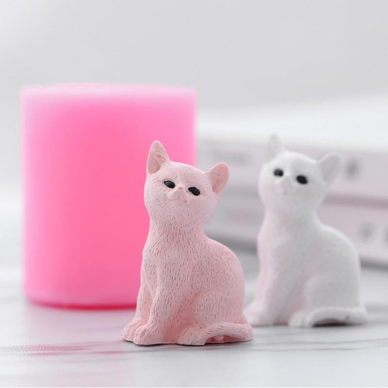 [해외]Cute Cat Shaped Silicone Mould Aromatherapy Gypsum Mold Car Decoration Cake Silicone Mold DIY Plaster Molds/Cute Cat Shaped Silicone Mould Aromath