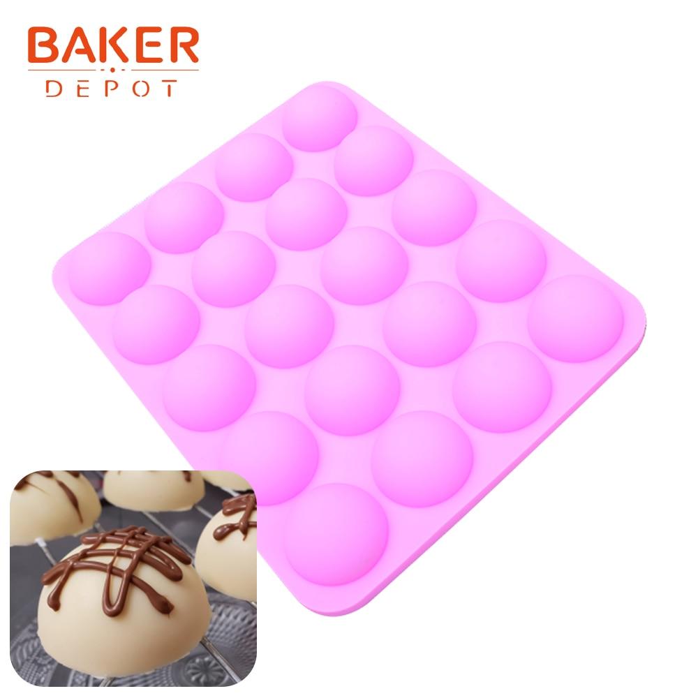 [해외]베이커 depot 초콜릿 베이킹을위한 실리콘 몰드 반 공 모양 사탕 과자 양식 케이크 장식 bakeware 도구 푸딩 젤로 몰드