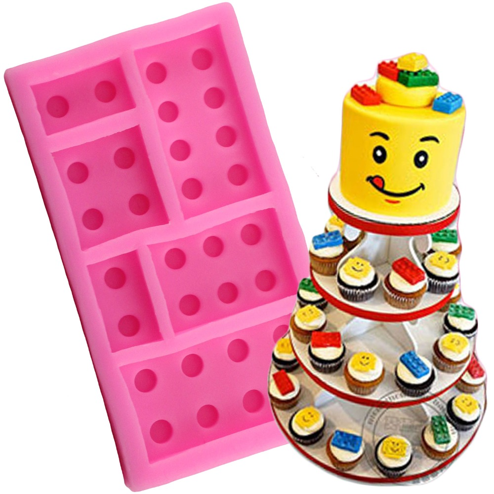 [해외]1 pcs 레고 로봇 소년 생일 파티 실리콘 케이크 금형 퐁당 금형 케이크 장식 도구 초콜릿 껌 붙여 넣기 금형