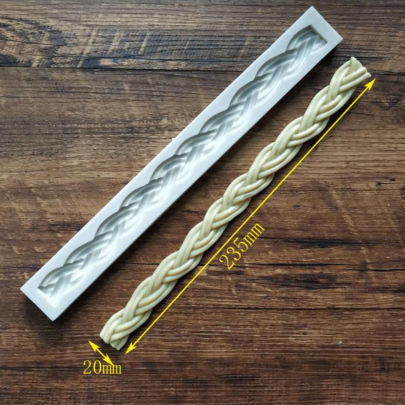 [해외]높은 품질 스트립 니트 케이크 가장자리 장식 도구 밧줄 실리콘 곰 팡이